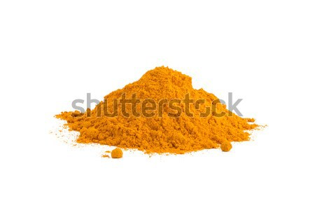 Turmeric Curcuma powder isolated on white background. Curry powder. Stock photo © ivo_13