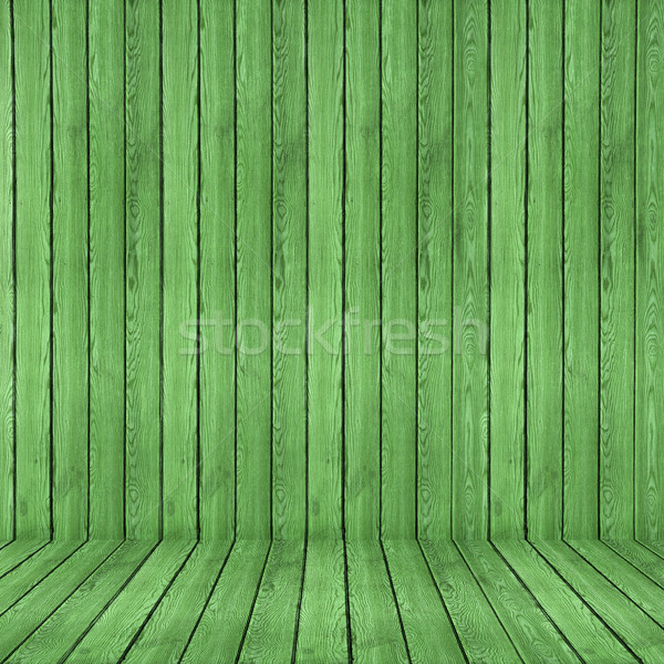 Wood texture background. green wood wall and floor Stock photo © ivo_13