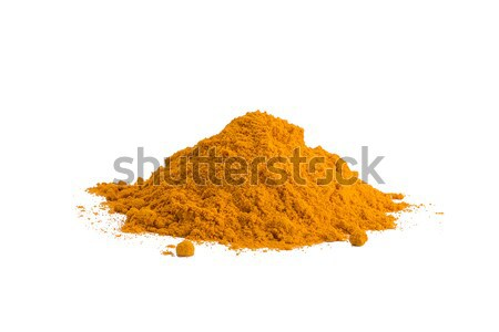 Turmeric , Curcuma, powder isolated on white background. Curry powder. Stock photo © ivo_13