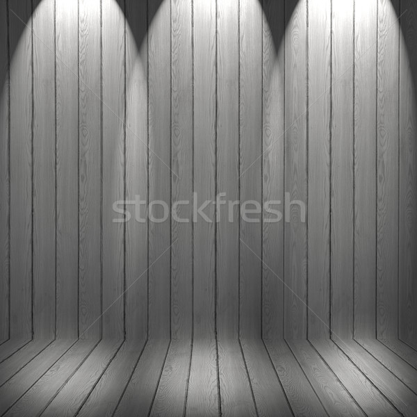 White washed floor and wall Wood Pattern. Wood texture backgroun Stock photo © ivo_13