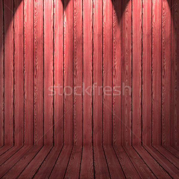 Wood texture background. red wood wall and floor Stock photo © ivo_13