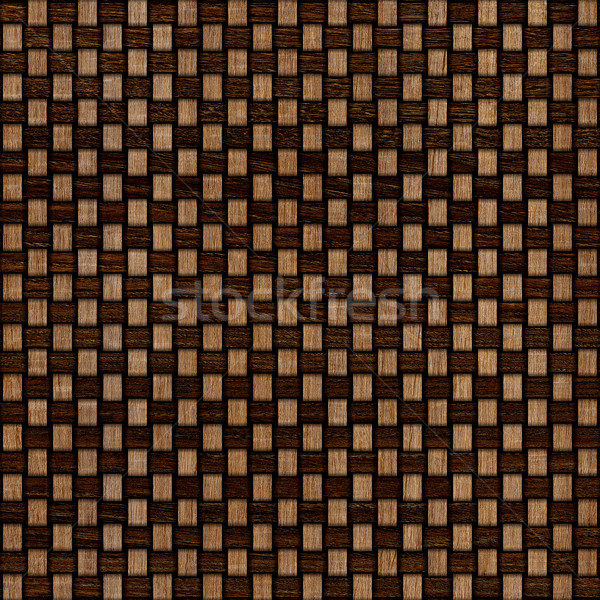 Wooden weave texture background. Abstract decorative wooden textured basket weaving background. Seam Stock photo © ivo_13