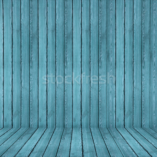 Wood texture background. blue wood wall and floor Stock photo © ivo_13
