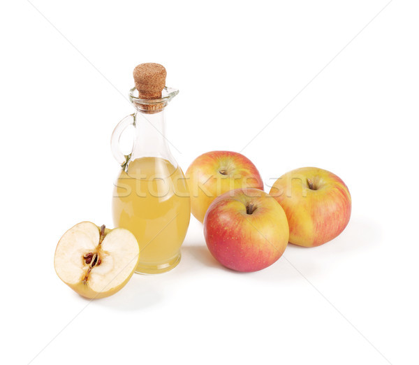 Decanter with apple vinegar isolated Stock photo © ivo_13