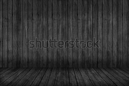 Wood texture background. black wood wall and floor Stock photo © ivo_13