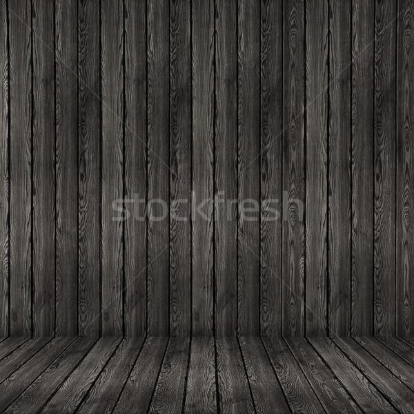 La texture du bois noir bois mur étage texture Photo stock © ivo_13