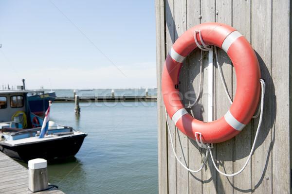 Vivere boa porto barca bandiera Foto d'archivio © ivonnewierink