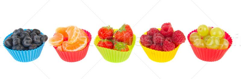 Fraîches assortiment fruits soft peu Photo stock © ivonnewierink