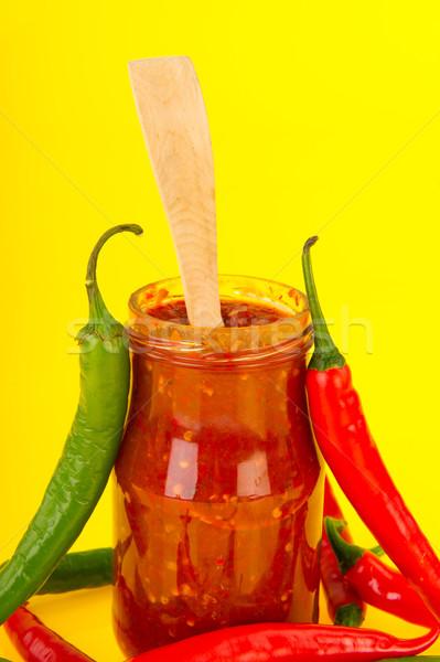 Stockfoto: Rood · hot · vers · glas · pot