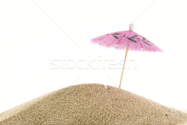 Stock photo: sunnt pink parasol