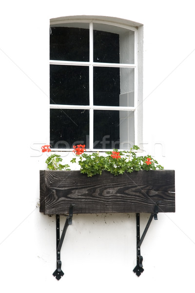 romantic window on white Stock photo © ivonnewierink