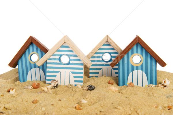 Plaj çizgili arka plan yaz seyahat Stok fotoğraf © ivonnewierink