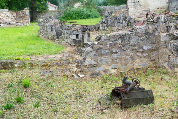 Ruins in oradour sur Glane Stock photo © ivonnewierink