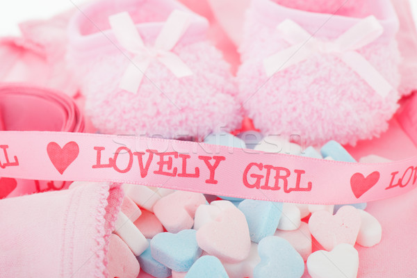 Newborn baby girl Stock photo © ivonnewierink
