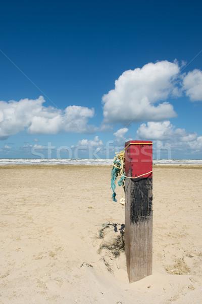 полюс пляж голландский острове пейзаж Сток-фото © ivonnewierink