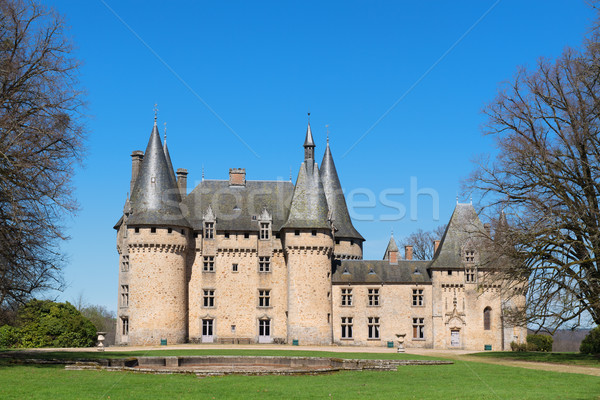 Chateau de Grenerie in French Limousin Stock photo © ivonnewierink
