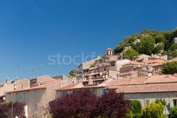 French village Bauduen Stock photo © ivonnewierink