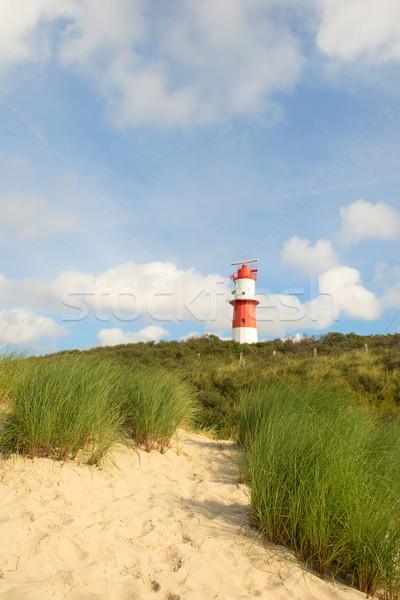 Latarni krajobraz czerwony biały trawy charakter Zdjęcia stock © ivonnewierink