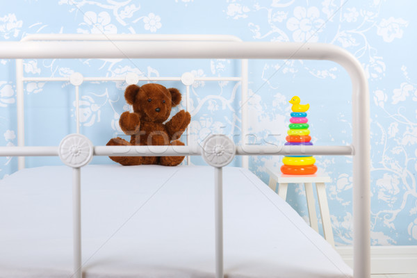 Child bedroom with stuffed bear Stock photo © ivonnewierink
