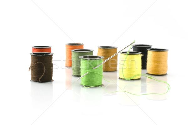 Groene handwerk bruin oog oranje tools Stockfoto © ivonnewierink