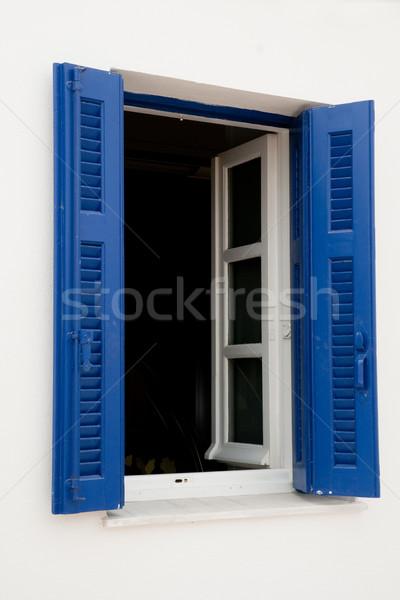 Greek blue window Stock photo © ivonnewierink
