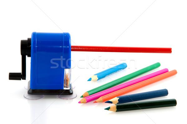 Sharpening the pencils Stock photo © ivonnewierink