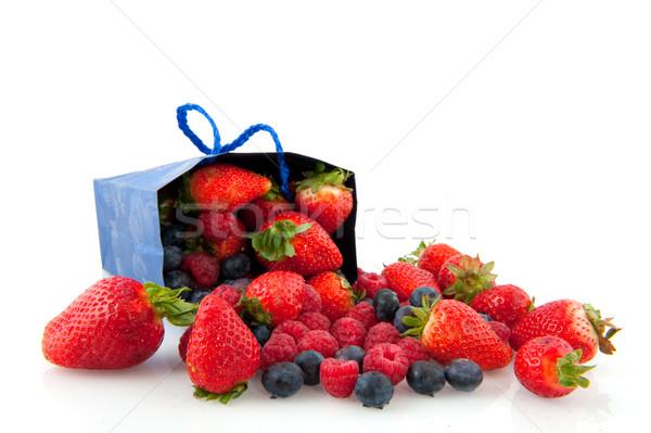 Fruits d'été diversité bleu été sac Photo stock © ivonnewierink