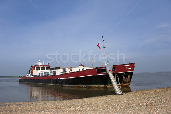 Ship at the Dutch wadden sea Stock photo © ivonnewierink