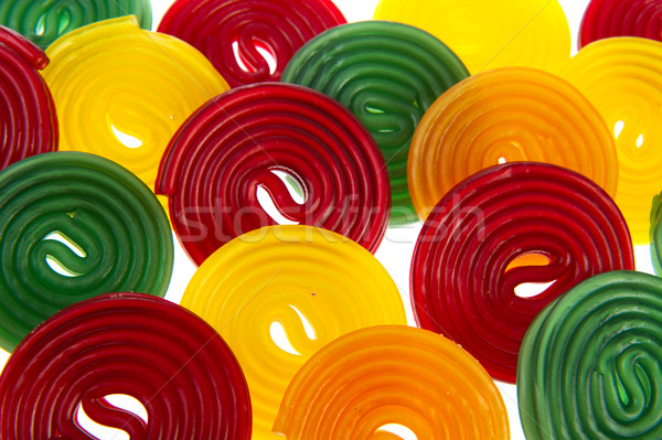 Kolorowy lukrecja wiele biały żywności Zdjęcia stock © ivonnewierink