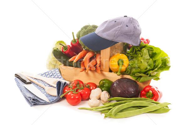 harvest basket fresh vegetables Stock photo © ivonnewierink