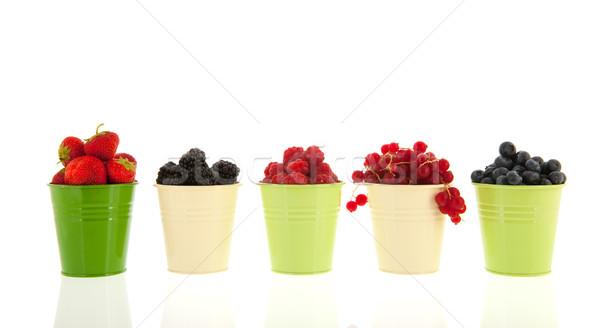 Stock fotó: Nyári · gyümölcs · csetepaté · zöld · izolált · fehér · gyümölcs