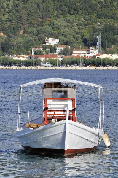 Grieks vissersboot zee landschap schip portret Stockfoto © ivonnewierink