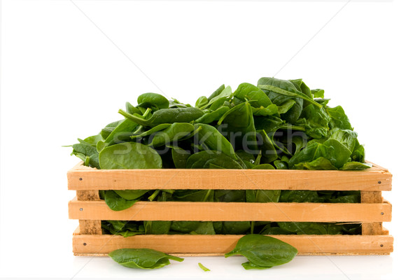 Crate with spinach Stock photo © ivonnewierink