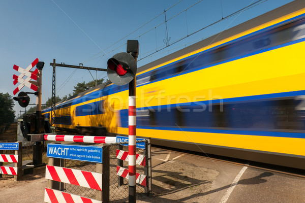 Train passing by Stock photo © ivonnewierink