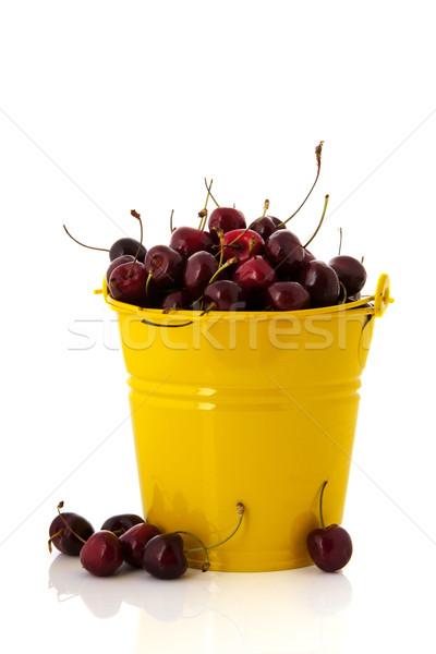 Yellow bucket cherries Stock photo © ivonnewierink