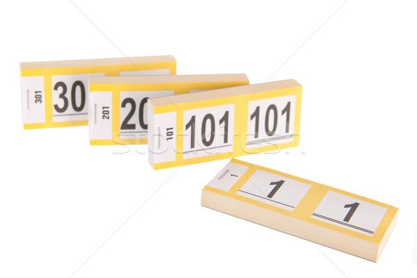 Cloakroom tickets Stock photo © ivonnewierink