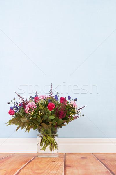 Mixed bouquet flowers on floor Stock photo © ivonnewierink