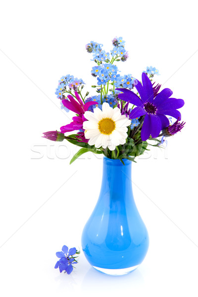 Stock photo: Vase with cheerful flowers