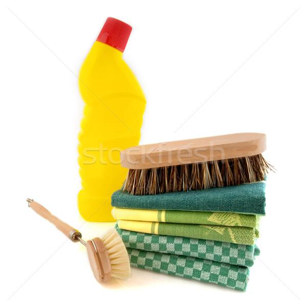 Czyszczenia dobre szczotki wybielacz butelki plastikowe Zdjęcia stock © ivonnewierink