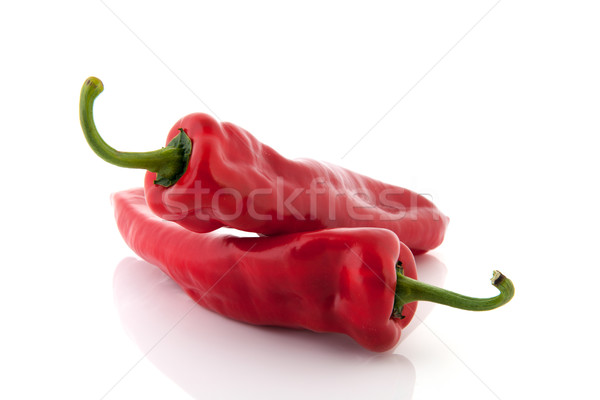 Red bell pointed peppers Stock photo © ivonnewierink