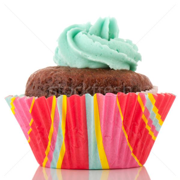 Chocolate cupcake with flower Stock photo © ivonnewierink