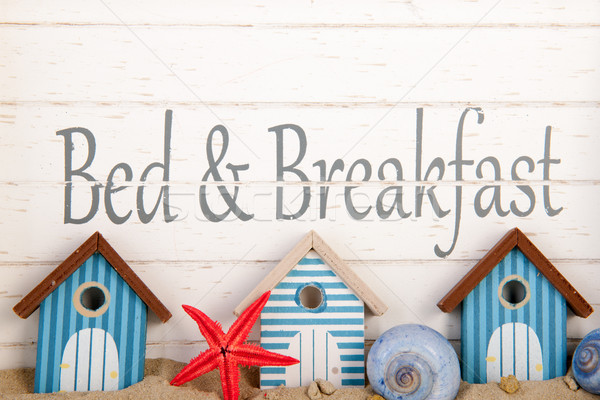 Bed and breakfast  Stock photo © ivonnewierink
