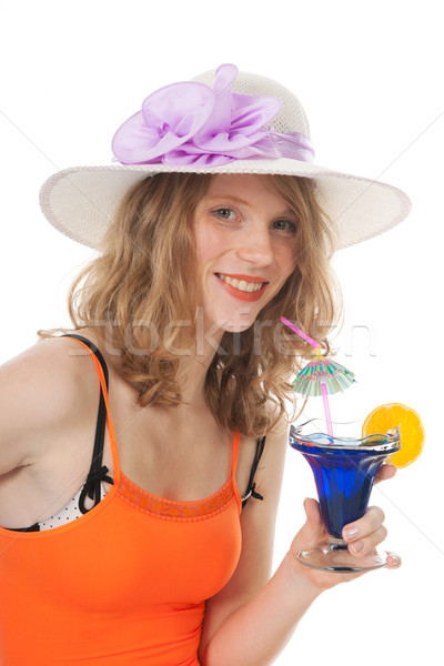 Young woman with luxury cocktail Stock photo © ivonnewierink