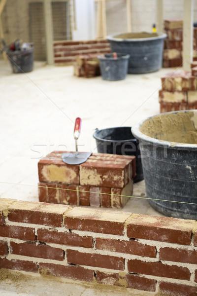 Escuela secundario educación aprendizaje construir pared Foto stock © ivonnewierink