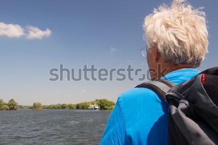 Senior man in nature Stock photo © ivonnewierink