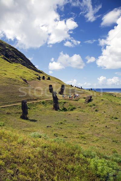 Ilha de Páscoa misterioso pedra parque ilha história Foto stock © ivonnewierink