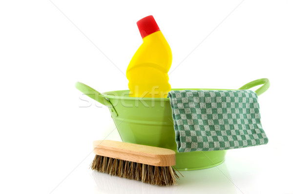 cleaning with brush and bleach Stock photo © ivonnewierink
