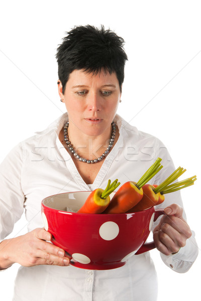 Stock photo: Young woman with vegetables