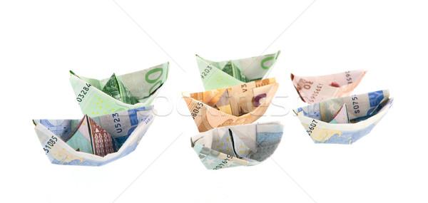 Paper money boats Stock photo © ivonnewierink