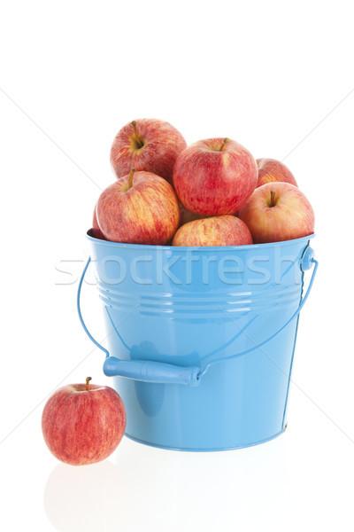 Blue bucket red apples Stock photo © ivonnewierink